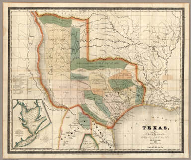 Texas, By David H Burr. / Burr, David H., 1803-1875 ; Colton, J.H. / 1835