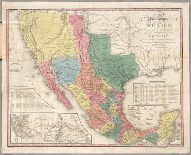 A Map Of The United States Of Mexico Tanner Henry S 1847