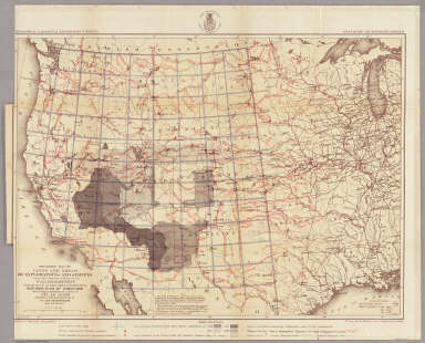 Progress Map Of Lines And Areas Of Explorations And Surveys. / Wheeler, G.M. / 1873