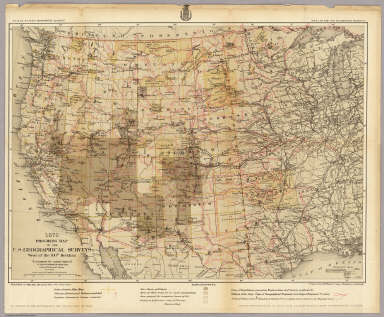 Progress Map Of The US Geographical Surveys West Of The Th - Us geographical map