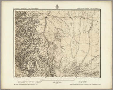 Part Of Central Colorado. Atlas Sheet No. 53(C.). Issued May 7th 1877. Weyss, Herman & Lang Del. Expeditions of 1873 and 1876, Under the Command of 1st. Lieut. Geo. M. Wheeler, Corps of Engineers, U.S. Army. Executive Officers & Field Astronomers: 1st. Lieuts., Corps of Engr's. Wm. L. Marshall and Eric Bergland. Topographical Assistants: Louis Nell and J.J. Young. U.S. Geographical Surveys West Of The 100th Meridian.