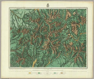 Land Classification Map Of Part Of South Western Colorado, Atlas Sheet 61 (C.). Weyss, Lang & Herman Del. Expeditions of 1873 74 75 & 77 Under the Command of 1st. Lieut. Geo. M. Wheeler, Corps of Engineers, U.S. Army. U.S. Geographical Surveys West Of The 100th Meridian.