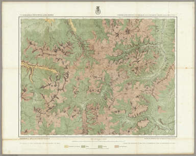 Economical Features Of S.W. Colorado, San Juan Mining Region. [Atlas Sheet No. 61 (C.)]. Louis Nell, Del. Expeditions of 1874, & 1875. Under the Command of 1st. Lieut. Geo. M. Wheeler, Corps of Engineers, U.S. Army in Charge. U.S. Geographical Surveys West Of The 100th Meridian. (1877)