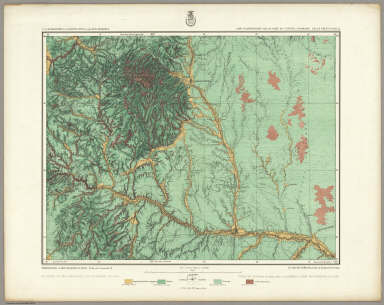 62A. Land Classification Map Of Part Of Central Colorado. / Wheeler, G.M. / 1878