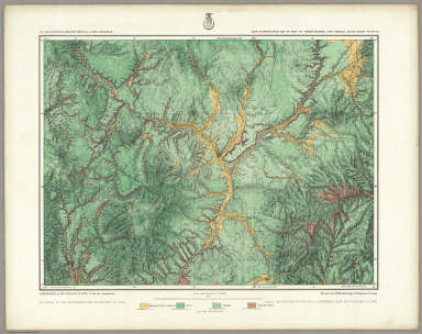 69D. Land Classification Map Of Part Of North Central New Mexico. / Wheeler, G.M. / 1876