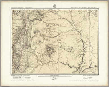 Part Of North Central New Mexico. Atlas Sheet No. 70, (C.). Issued May 7th 1877. The Graphic Co. Photo-Lith. 39 & 41 Park Place, N.Y. Weyss, Herman & Lang Del. Expeditions of 1874, 1875 & 1876, Under the Command of 1st. Lieut. Geo. M. Wheeler, Corps of Engineers, U.S. Army. Executive Officers & Field Astronomers, U.S. Army: 1st. Lieuts., 13th Infantry S.E. Blunt and R. Birnie, 9th Infantry W.L. Carpenter, 6th Cavalry C.C. Morrison. Topographical Assistants: E.J. Sommer, W.H. Rowe, F.O. Maxson and Anton Karl. U.S. Geographical Surveys West Of The 100th Meridian.
