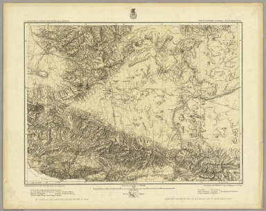 Part Of Southern California. Atlas Sheet No. 73. Issued Nov. 30th 1883. Weyss, Rock & Vell, Del. Expeditions of 1871, 1875-'76 & 1878 Under the Command of 1st. Lieut. Geo. M. Wheeler. Corps of Engineers, U.S. Army. Executive Officers & Field Astronomers, U.S. Army: 1st. Lieuts. Eric Bergland, Corps of Engrs. and Rogers Birnie, 13th Infantry, 2nd Lieuts. C.W. Whipple, 13th Infantry and Willard Young, Corps of Engrs. Topographical Assistants: Louis Nell, Gilbert Thompson, Frank Carpenter, W.A. Cowles, F.A. Clark and G.H. Birnie. U.S. Geographical Surveys West Of The 100th Meridian.