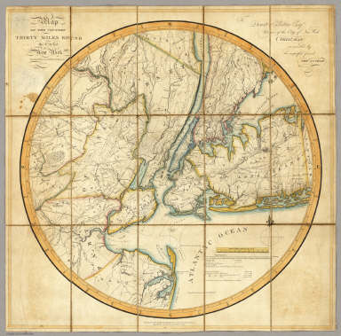 Map Of The Country Thirty Miles Round the City of New York. / Eddy, John H. / 1811