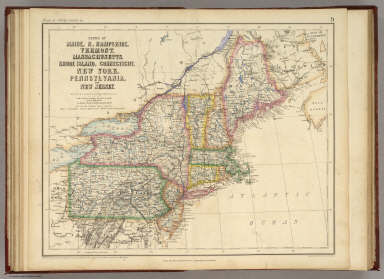 States Of Maine, N. Hampshire, Vermont, Massachusetts, Rhode Island, Connecticut, New York, Pennsylvania, And New Jersey. / Rogers, Henry Darwin ; Johnston, Alexander Keith, 1804-1871 / 1857