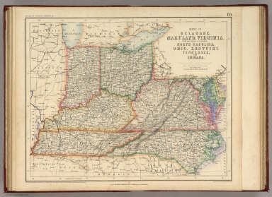 States Of Delaware, Maryland, Virginia (with the District of Columbia) North Carolina, Ohio, Kentucky, Tennessee, And Indiana. / Rogers, Henry Darwin ; Johnston, Alexander Keith, 1804-1871 / 1857