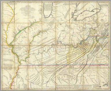 A New Map of the Western Parts of Virginia, Pennsylvania, Maryland and North Carolina, Comprehending the River Ohio, and all the Rivers, which fall into it, Part of the River Mississippi, the Whole of the Illinois River, Lake Erie, Part of the Lakes Huron, Michigan &c. And all the Country bordering on these Lakes and Rivers. By Thos. Hutchins, Captain in the 60 Regiment of Foot. London, Published according to Act of Parliament Novembr. ye 1st, 1778 by T. Hutchins ... Engrav'd by T. Cheevers.