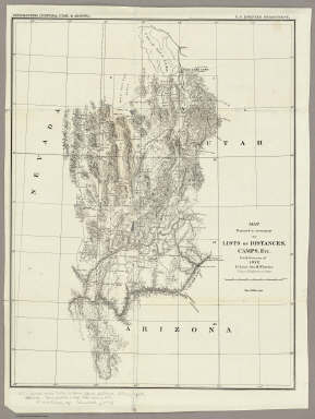 Map Prepared to accompany the Lists of Distances, Camps, Etc. / Wheeler, G.M. / 1872