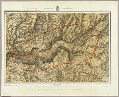 Topographical Map Of The Yosemite Valley And Vicinity. / Wheeler, G.M. / 1883