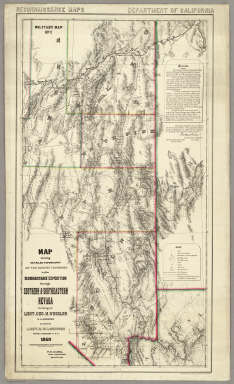 Topography Of Southern & Southeastern Nevada. / Wheeler, G.M. / 1869