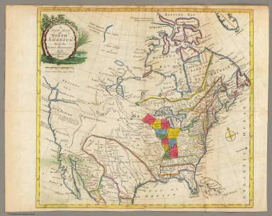 Map Of North America Carver Jonathan - Map of us 1781