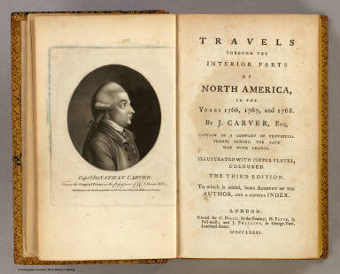 Title Page: Travels through the interior parts of North America. / Carver, Jonathan / 1781