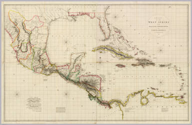 Chart Of The West Indies And Spanish Dominions In North America. / Arrowsmith, Aaron / 1803