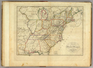 Of The United States Of America Carey Mathew - Us map 1814