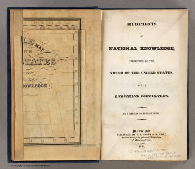 Title Page: Rudiments of national knowledge. / Churchman, Joseph and James ; Moore, I.W. / 1833