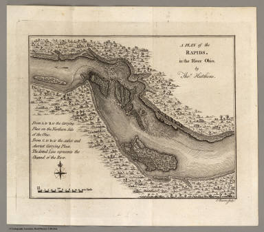 Rapids, in the River Ohio. / Hutchins, Thomas / 1778