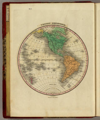 Western Hemisphere. Young & Delleker Sc. Published by A. Finley Philada.