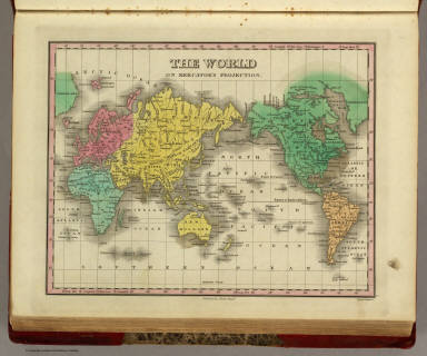 The World On Mercator's Projection. Published by A. Finley Philada. Young & Delleker Sc.