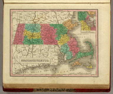 Massachusetts. Published by A. Finley Philada. Young & Delleker Sc. (inset) Map Of The Country in the vicinity of Boston.