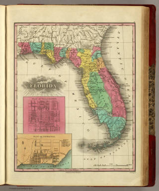Florida. 1831. Published by A. Finley Philadelphia. J.H. Young Sc. (inset) Plan Of Tallahassee. (inset) Plan Of Pensacola.