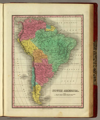 South America. Published by A. Finley Philada. Young & Delleker Sc.