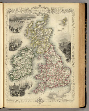 The British Isles. (with) inset map of the Shetland Islands. / Martin, R.M. ; Tallis, J. & F. / 1851