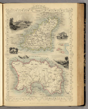 Channel Islands. (with) inset map of the English Channel. / Martin, R.M. ; Tallis, J. & F. / 1851