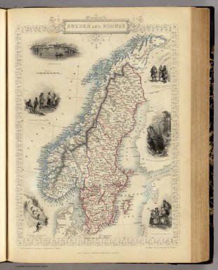 Sweden and Norway. / Martin, R.M. ; Tallis, J. & F. / 1851