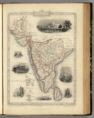 Southern India Including The Presidencies Of Bombay & Madras. / Martin, R.M. ; Tallis, J. & F. / 1851