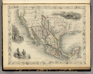 Mexico, California and Texas. The Illustrations by H. Warren & Engraved by J. Rogers. The Map Drawn & Engraved by J. Rapkin.