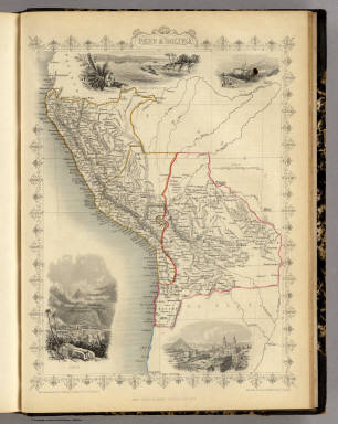 Peru & Bolivia. The Illustrations by H. Winkles & Engraved by J.H. Kernot. The Map Drawn & Engraved by J. Rapkin.