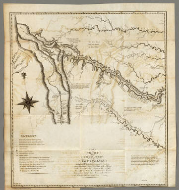 Chart of the Internal Part of Louisiana, 1810. Zebulon Montgomery Pike.