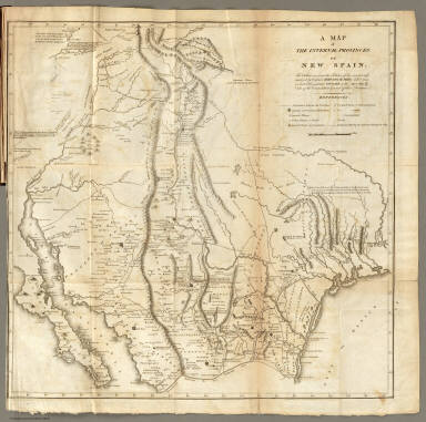 Map of The Internal Provinces of New Spain. / Pike, Zebulon Montgomery / 1810