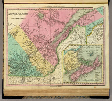 Lower Canada. J. Knight Sc. Published by H.S. Tanner, Philadelphia. (with) Nova Scotia New Brunswick &c. (above neat line) Tanner's Universal Atlas.