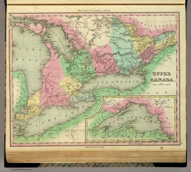 Upper Canada. Published by H.S. Tanner, Philadelphia. (with) inset map of Lake Superior. (above neat line) Tanner's Universal Atlas.