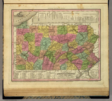 New Map Of Pennsylvania. / Tanner, Henry S. / 1836