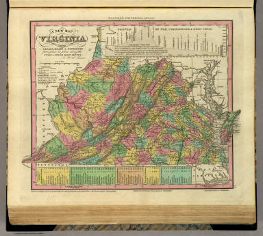 New Map Of Virginia. / Tanner, Henry S. / 1836