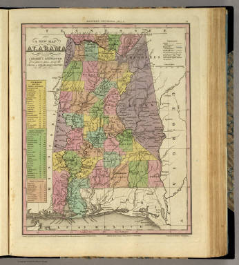 New Map Of Alabama. / Tanner, Henry S. / 1836