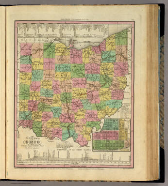 New Map Of Ohio. / Tanner, Henry S. / 1836