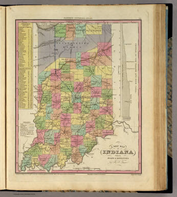 New Map Of Indiana. / Tanner, Henry S. / 1836