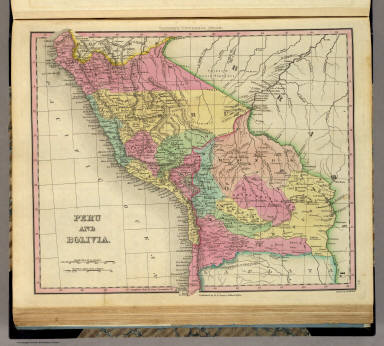 Peru And Bolivia. Engraved by J. & W.W. Warr. Published by H.S. Tanner, Philadelphia. (above neat line) Tanner's Universal Atlas.