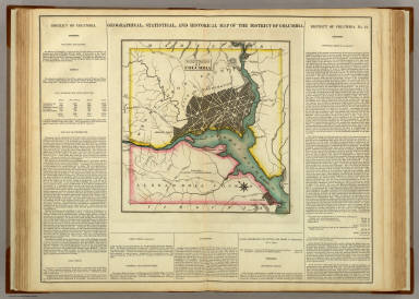 Map Of The District Of Columbia. / Carey, H. C. ; Lea, I. / 1822
