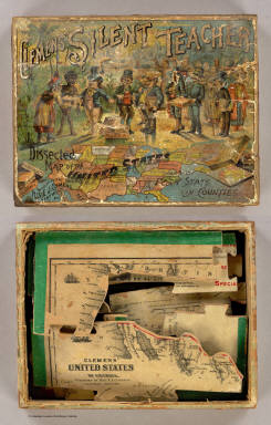 Box Cover: Dissected map, United States. / Clemens, Rev E.J. / 1893
