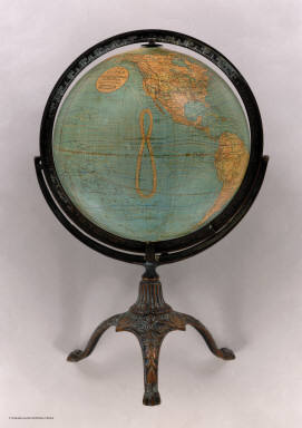 12 Inch Globe by W. & A.K. Johnston, Limited, Geographers, Engravers & Printers, Edinburgh and London.