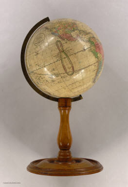 10 Inch Terrestrial Globe Compiled from the best Authorities. H.B. Nims & Co. Troy, N.Y.