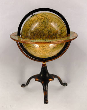 The Peerless Globe. Central School Supply House, Chicago, U.S.A. Copyright 1891 by G.W. Bacon, F.R.G.S.